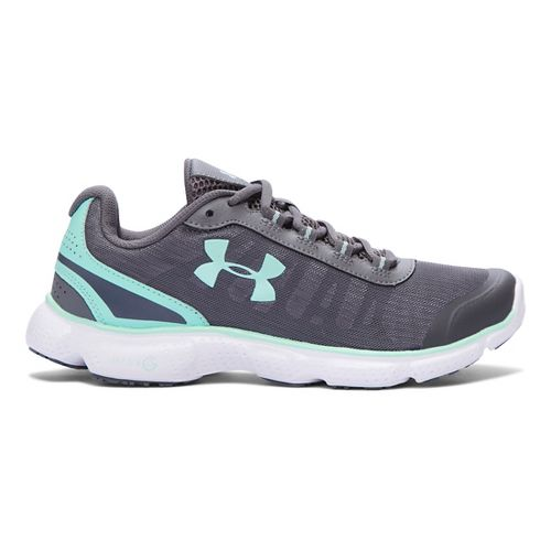 Womens Under Armour Micro G Attack 2 H Running Shoe - Graphite/Crystal 5