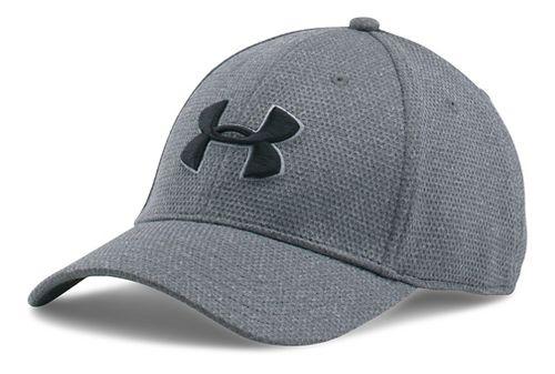 Mens Under Armour Heathered Blitzing Cap Headwear - Steel L/XL
