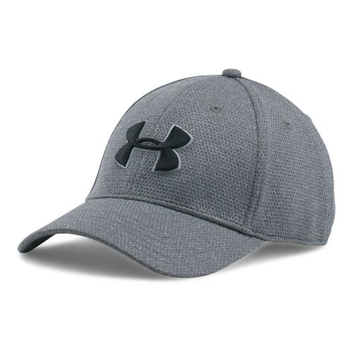 Mens Under Armour Heathered Blitzing Cap Headwear - Steel L/XL