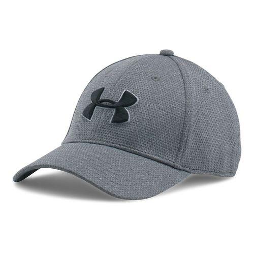 Mens Under Armour Heathered Blitzing Cap Headwear - Steel XL/XXL