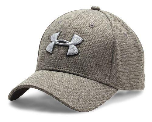 Mens Under Armour Heathered Blitzing Cap Headwear - Army Green M/L