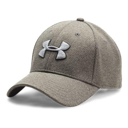 Mens Under Armour Heathered Blitzing Cap Headwear - Army Green XL/XXL
