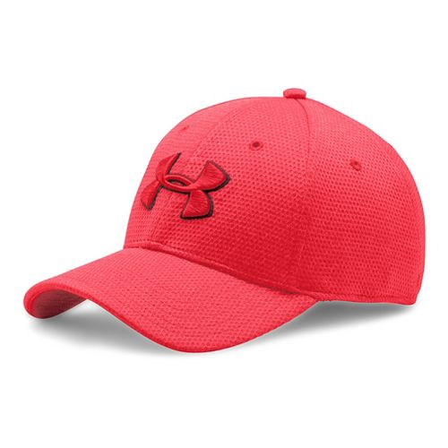 Mens Under Armour Heathered Blitzing Cap Headwear - Red XL/XXL