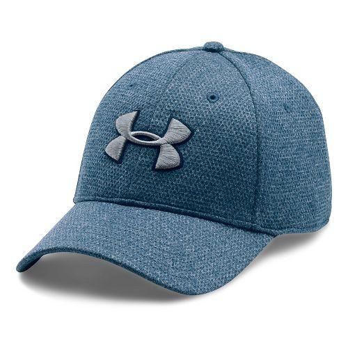 Mens Under Armour Heathered Blitzing Cap Headwear - Blackout Navy M/L