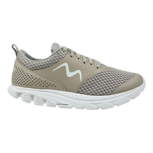 Womens MBT Speed 17 Lace Up Running Shoe - Taupe 5