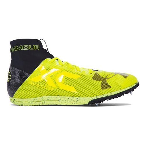 Under Armour Bandit XC Spike Racing Shoe - Yellow/Black 8.5