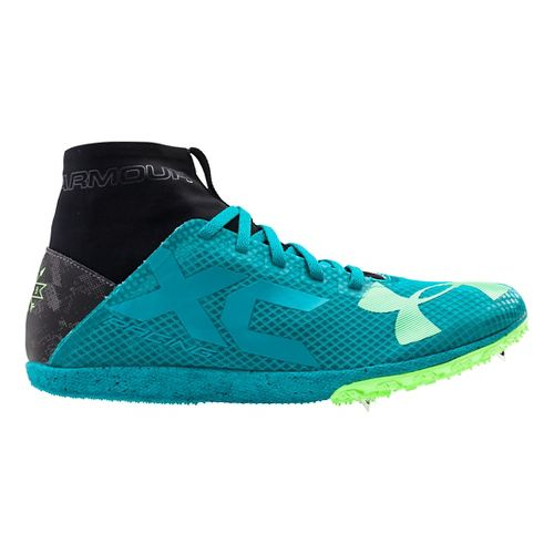 Under Armour Bandit XC Spike Racing Shoe - Teal/Black 10.5