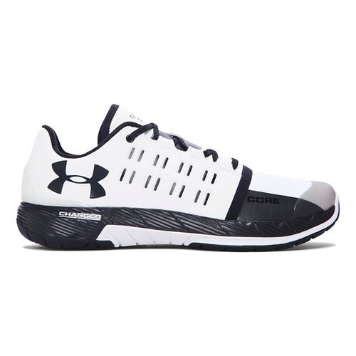 Mens Under Armour Charged Core Cross Training Shoe - White/Black 10.5