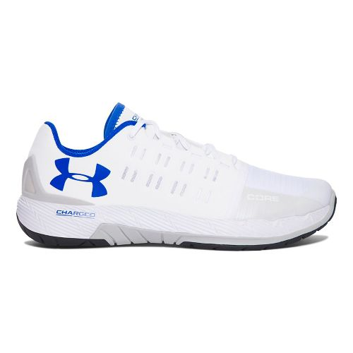 Mens Under Armour Charged Core Cross Training Shoe - White 9.5