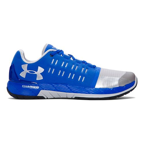 Mens Under Armour Charged Core Cross Training Shoe - Ultra Blue/Silver 7.5