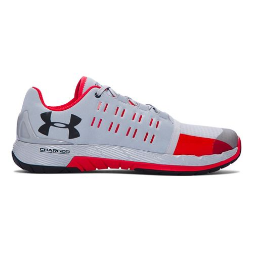 Mens Under Armour Charged Core Cross Training Shoe - Overcast Grey/White 10