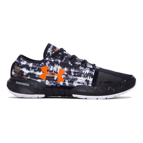 Mens Under Armour Speedform Amp Cross Training Shoe - Black/Blaze Orange 7