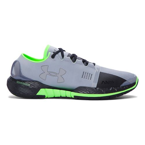 Mens Under Armour Speedform Amp Cross Training Shoe - Steel/Hyper Green 12