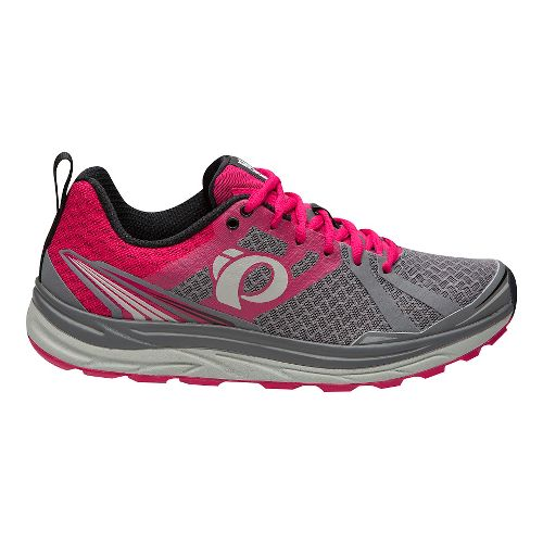 Womens Pearl Izumi Em Trail M 2 V3 Running Shoe - Smoked Pearl/Rose 6.5