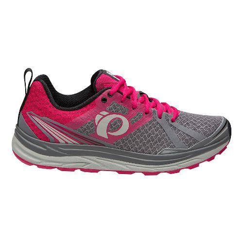Womens Pearl Izumi Em Trail M 2 V3 Running Shoe - Smoked Pearl/Rose 9