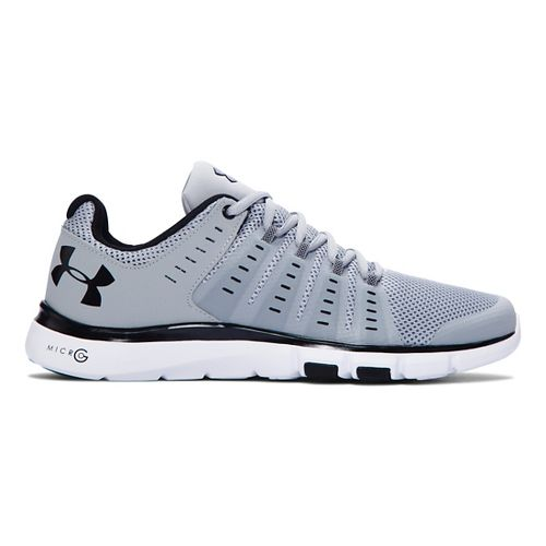 Mens Under Armour Micro G Limitless TR 2 Cross Training Shoe - Overcast Grey/White 7.5 ...