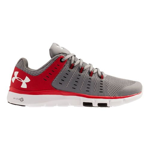 Mens Under Armour Micro G Limitless TR 2 TM Cross Training Shoe - Steel/Red 12.5 ...