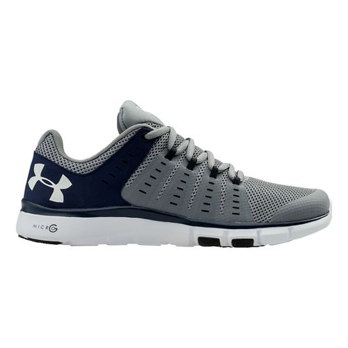 Mens Under Armour Micro G Limitless TR 2 TM Cross Training Shoe - Steel/Midnight Navy ...