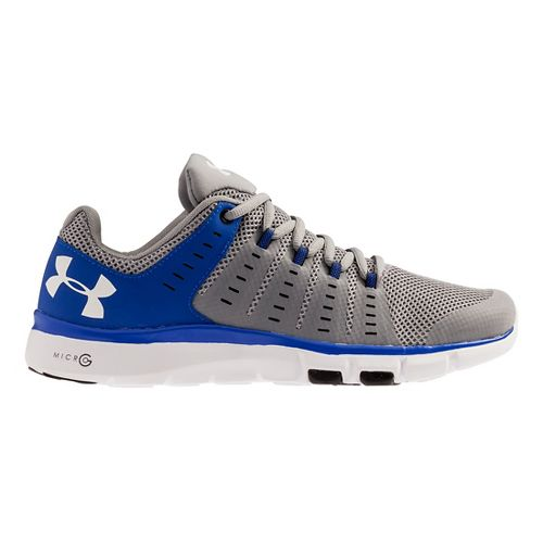 Mens Under Armour Micro G Limitless TR 2 TM Cross Training Shoe - Steel/Royal 8 ...