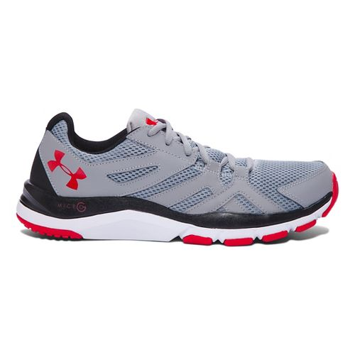 Mens Under Armour Strive 6 Cross Training Shoe - Steel/Black 7.5