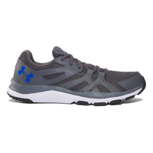 Mens Under Armour Strive 6 Cross Training Shoe - Grey/White 9.5