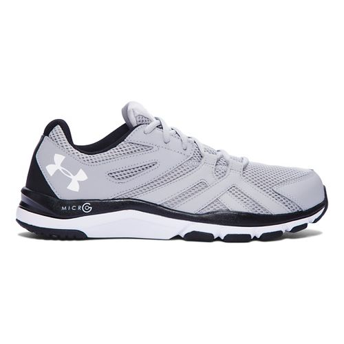 Mens Under Armour Strive 6 Cross Training Shoe - Overcast Grey/Black 8.5