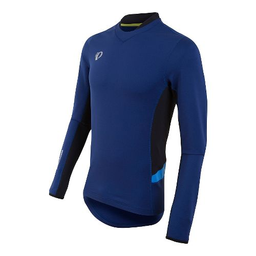 Mens Pearl Izumi Pursuit Thermal Long Sleeve Technical Tops - Blue Depths/Sky Blue M