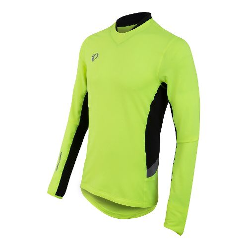 Mens Pearl Izumi Pursuit Thermal Long Sleeve Technical Tops - Screaming Yellow L