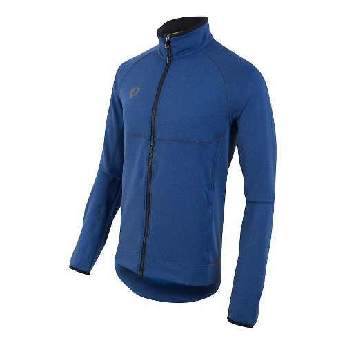 Mens Pearl Izumi Escape Thermal FZ Long Sleeve Technical Tops - Smoke Indigo XXL