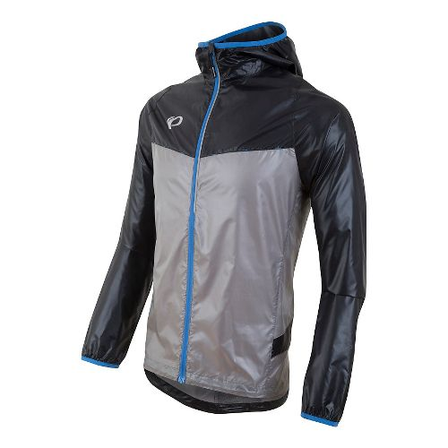Mens Pearl Izumi Pursuit Barrier Lt Half-Zips & Hoodies Technical Tops - Black/Monument Grey ...