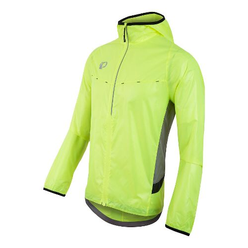 Mens Pearl Izumi Pursuit Barrier Lt Half-Zips & Hoodies Technical Tops - Screaming Yellow S ...
