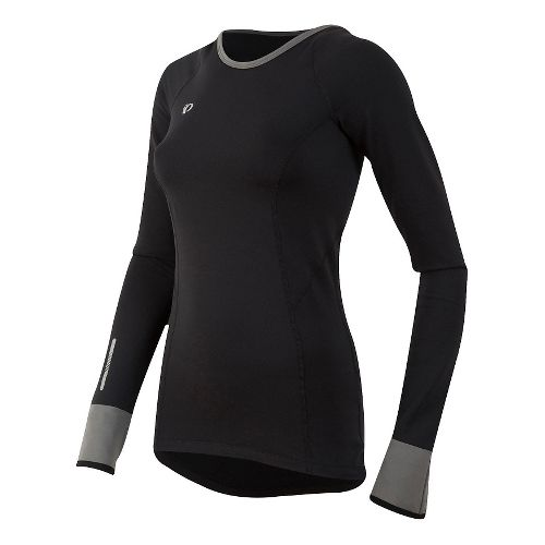 Womens Pearl Izumi Pursuit Thermal Long Sleeve Technical Tops - Black XS