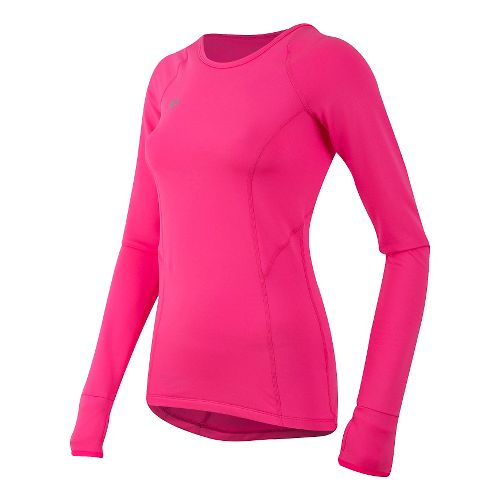 Womens Pearl Izumi Pursuit Thermal Long Sleeve Technical Tops - Screaming Pink S
