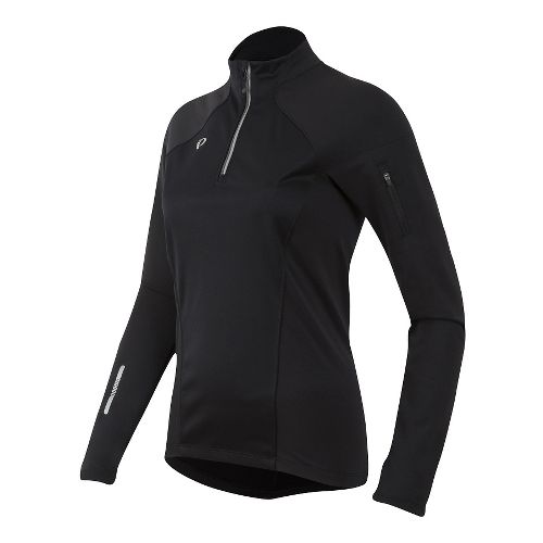 Womens Pearl Izumi Pursuit Wind Thermal Half-Zips & Hoodies Technical Tops - Black XL
