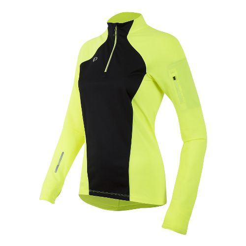 Womens Pearl Izumi Pursuit Wind Thermal Half-Zips & Hoodies Technical Tops - Screaming Yellow M ...