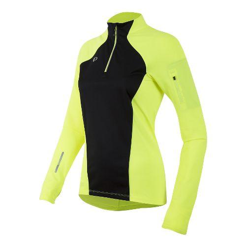 Womens Pearl Izumi Pursuit Wind Thermal Half-Zips & Hoodies Technical Tops - Screaming Yellow S ...