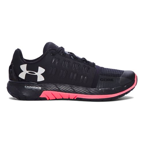 Womens Under Armour Charged Core Cross Training Shoe - Black/Brilliance 7