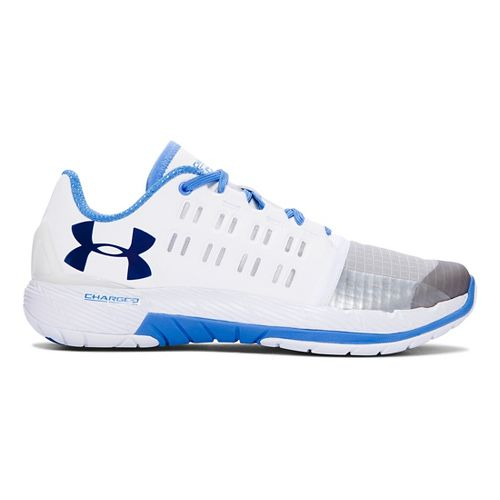 Womens Under Armour Charged Core Cross Training Shoe - White/Water 7.5