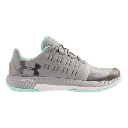 Womens Under Armour Charged Core Cross Training Shoe - Grey/Crystal 8.5