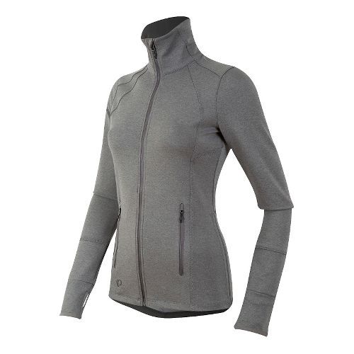 Womens Pearl Izumi Escape Thermal FZ Long Sleeve Technical Tops - Smoke Pearl XL