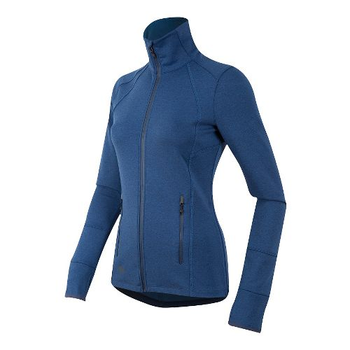 Womens Pearl Izumi Escape Thermal FZ Long Sleeve Technical Tops - Deep Indigo XS