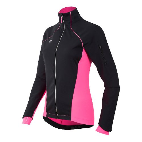 Womens Pearl Izumi Pursuit Softshell Cold Weather Jackets - Black/Screaming Pink S