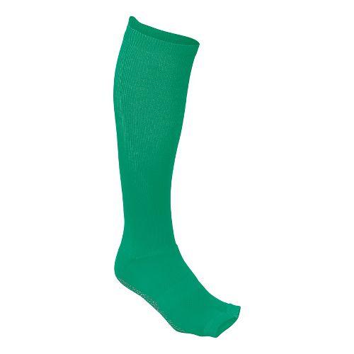 Womens ASICS Studio No-Slip Compression Knee High 3 Pack Socks - Cool Mint M
