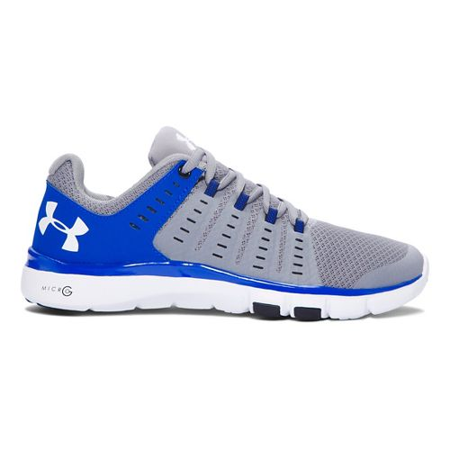Womens Under Armour Micro G Limitless TR 2 TM Cross Training Shoe - Steel/Royal 6.5 ...