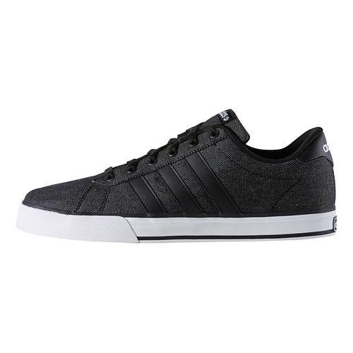 Mens adidas SE Daily Vulc Casual Shoe - Black/White 6.5