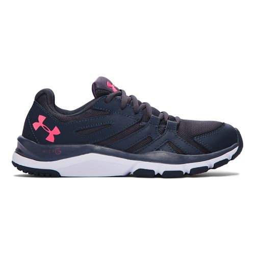 Womens Under Armour Strive 6 Cross Training Shoe - Stealth Grey/White 6