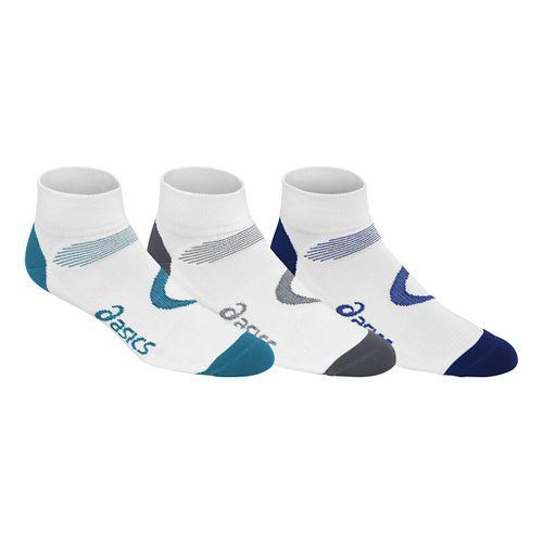 ASICS Intensity Quarter 9 Pack Socks - White Assorted L