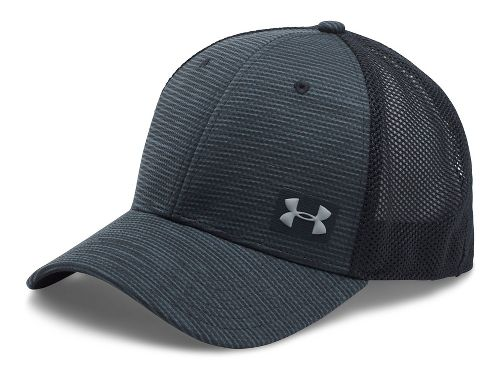 Mens Under Armour Blitzing Trucker Cap Headwear - Stealth Grey/Black