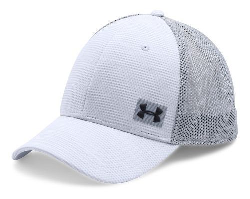 Mens Under Armour Blitzing Trucker Cap Headwear - White/Steel