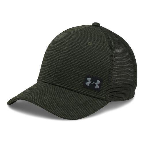 Mens Under Armour Blitzing Trucker Cap Headwear - Downtown Green/Green